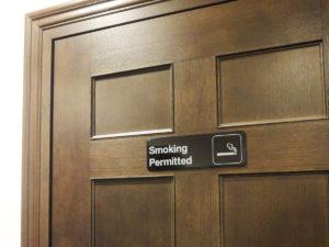 披露宴会場付近にある喫煙室